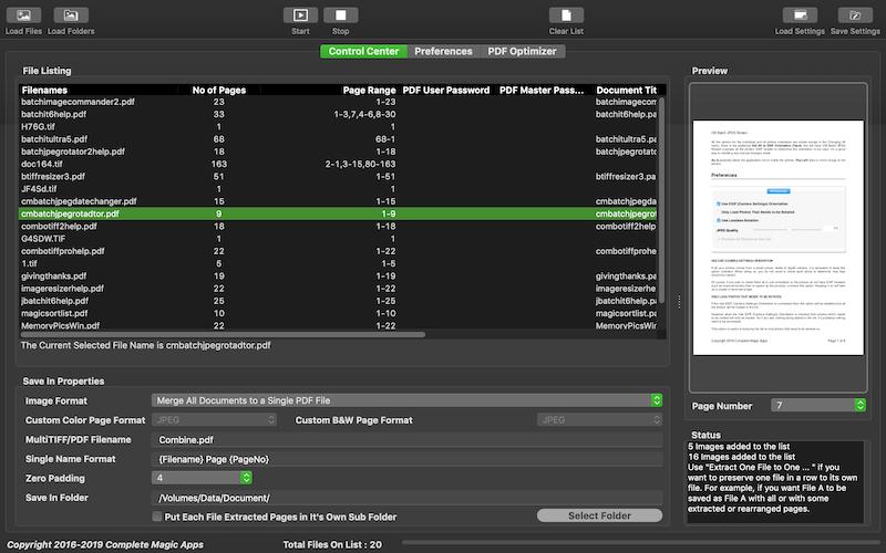 Batch TIFF PDF Converter