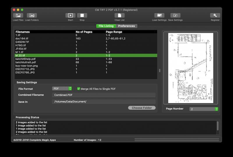 CM TIFF 2 PDF full screenshot